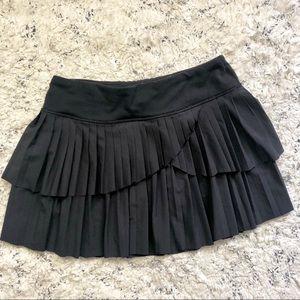 Ivivva Black Pleated Ruffle Layered Skort Size 14